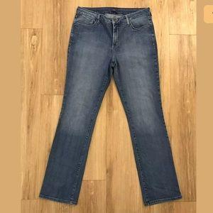NYDJ Women 14 Straight Leg Jeans Lift Tuck Stretch